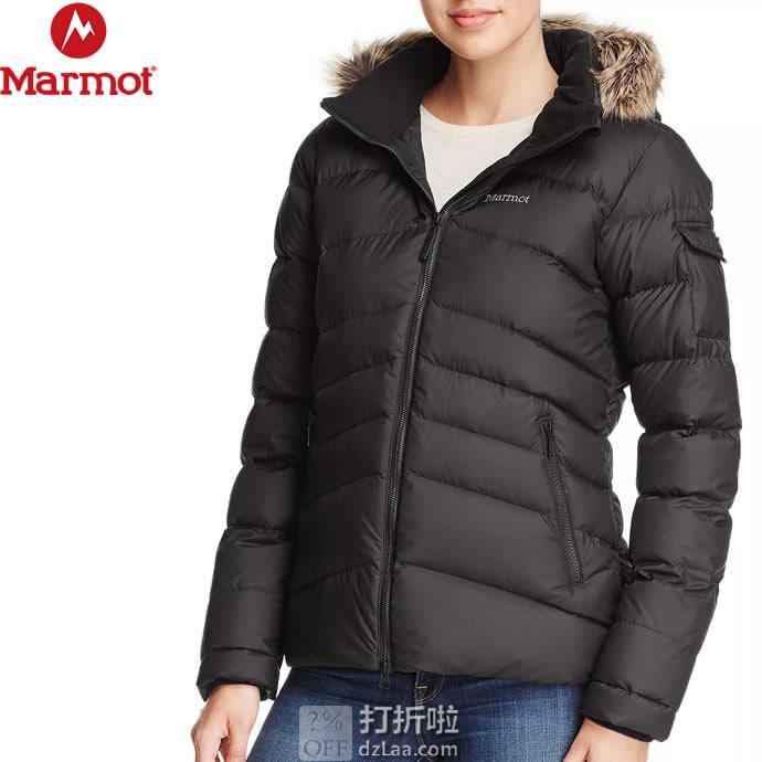 Marmot 土拨鼠 Ithaca 带可拆卸仿毛领 700蓬 女式羽绒服 XS码4.4折$110.8 海淘转运到手约¥775