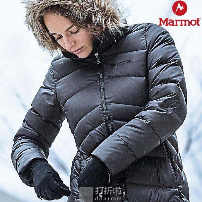 Marmot 土拨鼠 Montreal 蒙特利尔 700蓬 带可拆卸仿毛领 女式中长款羽绒服 XS码¥836