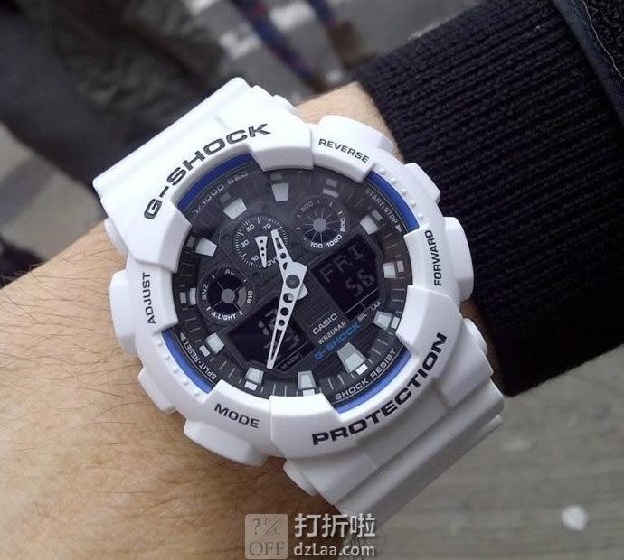 CASIO 卡西欧 G-shock GA-100B-7AER 双显 男式运动手表 镇店之宝¥460