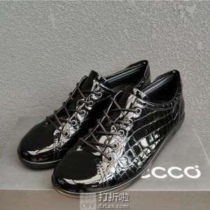 ECCO 爱步 Soft 2.0 柔酷2号 蛇纹压花 女式系带休闲鞋 35码¥356