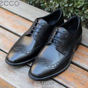 限尺码 ECCO 爱步 Melbourne 墨本系列 布洛克风格 男式系带正装鞋 德比鞋 ¥527