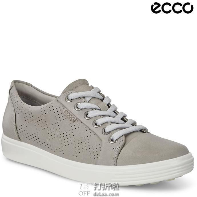 ECCO 爱步 SOFT 7 柔酷7号 打孔版 休闲时尚女鞋 6.2折$67.99 海淘转运到手约¥577 中亚Prime会员免运费直邮到手约¥538