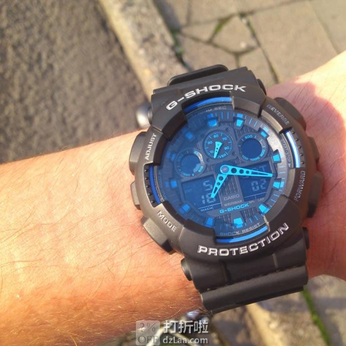 Casio 卡西欧 G-Shock系列 GA-100-1A2ER 多功能双显 男式运动手表 镇店之宝¥415