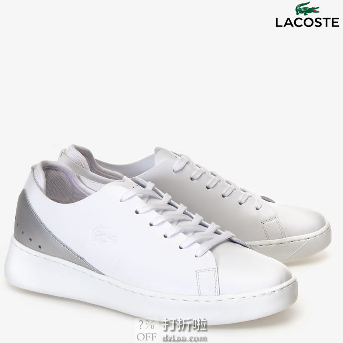 LACOSTE 法国鳄鱼 Eyyla 女式休闲运动板鞋 小白鞋 37.5码3.4折$43.8 海淘转运到手约¥400