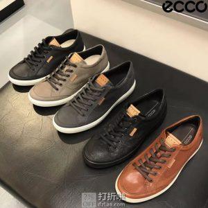 Prime会员福利 金盒特价 ECCO 爱步 SOFT 7 柔酷7号 男式休闲板鞋 4.2折$63.5 海淘转运到手约¥517