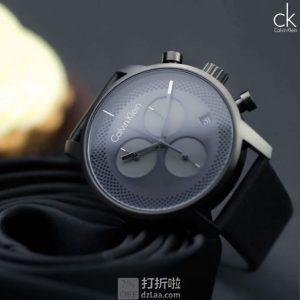 Calvin Klein 卡尔文克莱因 City ext城市系列延伸款 K2G177C3 三眼计时男式手表 优惠码折后$79.99 海淘转运关税补贴到手约¥703