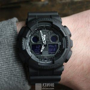 CASIO 卡西欧 G-SHOCK系列 GA-100-1A1ER 多功能双显男式运动手表 ¥458
