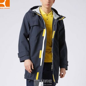 Hugo Boss Orange 雨果博斯 Urain 宽松连帽 男式防水夹克外套 2.4折$145.5 海淘转运到手约¥1060