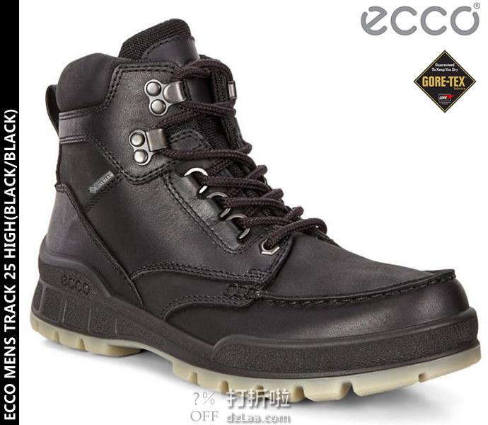限尺码 ECCO 爱步 TRACK 25 踪迹25 GTX防水 男式高帮户外徒步靴 ¥743