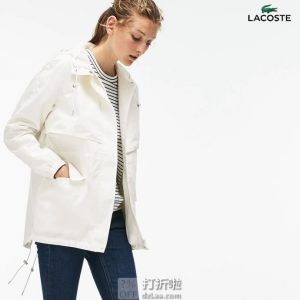 Lacoste 法国鳄鱼 女式连帽风衣 6码2.1折$39.69 海淘转运到手约¥342