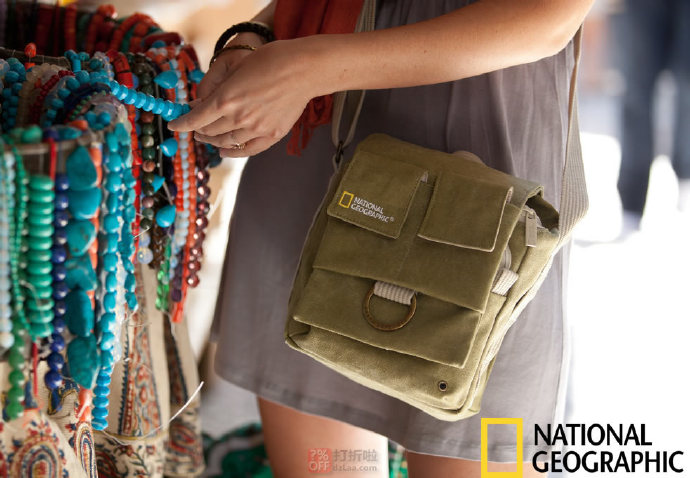 National Geographic 国家地理 NG 2344 迷你型单肩包 5.4折$34.88 海淘转运到手约¥281 中亚Prime会员免运费直邮到手¥295