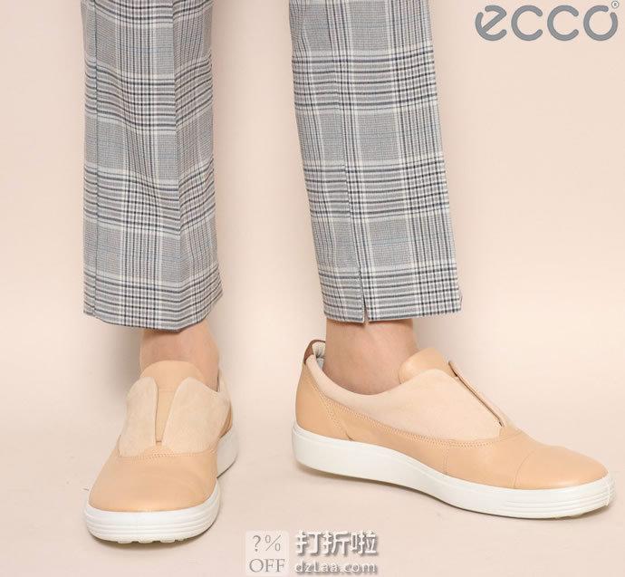 ECCO 爱步 Soft 7 柔酷7号 磨砂皮牛皮拼接 一脚套女式休闲鞋 35码2.1折$30.81海淘转运到手约¥305