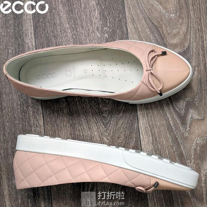 ECCO 爱步 Gillian 吉莉系列 蝴蝶结装饰 一脚套 女式休闲鞋 35码2.8折$37.06 海淘转运到手约¥352