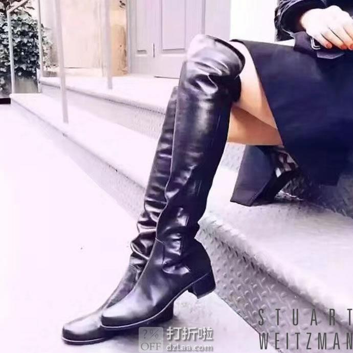 限尺码 西班牙产 Stuart Weitzman 斯图尔特·韦茨曼 Reserve 女式过膝长筒靴 5.8折$399.99 海淘转运到手¥2981
