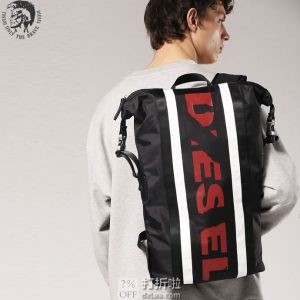 Diesel 迪赛 F-Sporty 时尚双肩背包 5.4折$86.59 海淘转运到手约¥671 中亚Prime会员免运费直邮到手约¥683