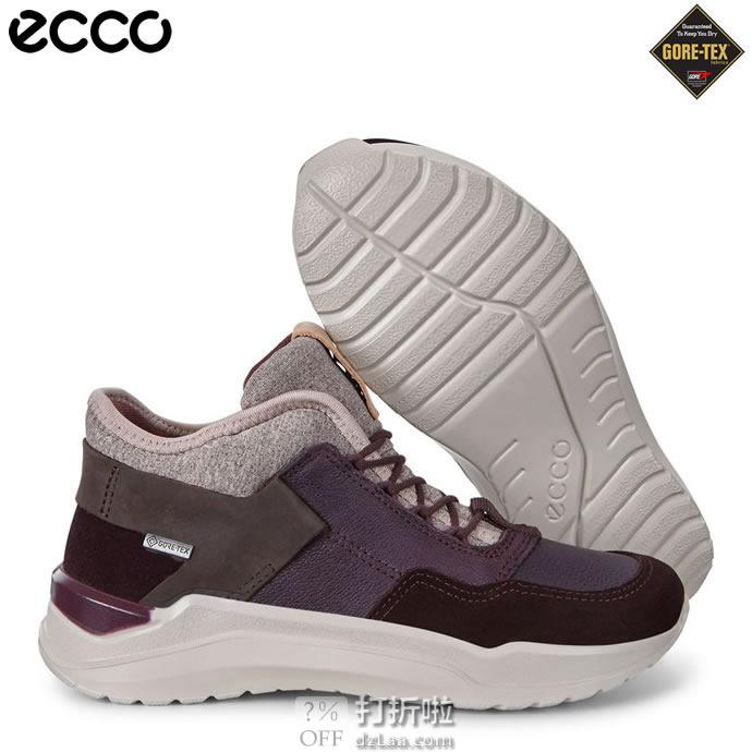 ECCO 爱步 INTERVENE 互动系列 GTX防水 青少年女大童款 高帮运动运动鞋 ¥563
