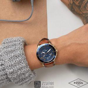 金盒特价 Fossil 化石 GRANT系列 3眼计时 FS5268 男式手表 3.7折$55史低 海淘转运关税补贴到手约¥522