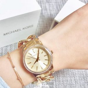 金盒特价 Michael Kors 迈克·科尔斯 Lady Nini 女式水晶手表 MK3235/MK3236 5.1折$128.65史低 2色可选 海淘关税补贴转运到手约¥1040
