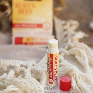 Burt's Bees 小蜜蜂 全季节适用 100%天然防晒润唇膏 SPF15 1.25g*2支装 6.3折$4.4 S&S订购可再优惠5% 海淘转运到手约¥33