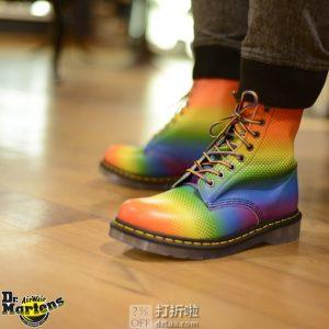 限6码 Dr. Martens 中性款 Pascal Pride 彩虹马丁靴 3.4折$47.99 海淘转运到手约¥456
