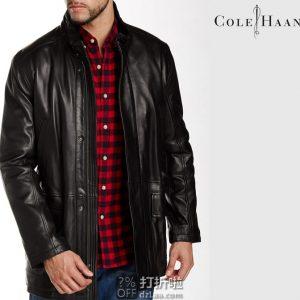 Cole Haan 可汗 小羊皮 男式皮夹克 M码1.1折$90.35 海淘转运到手¥750