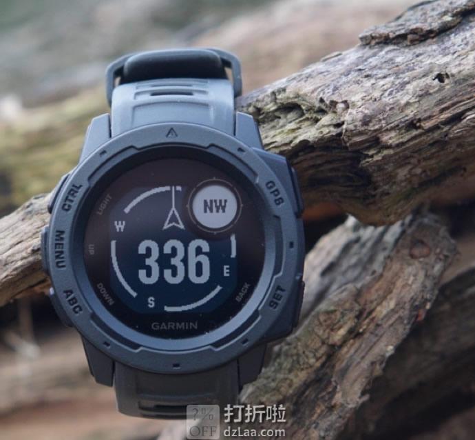 销量第一 Garmin 佳明 Instinct 本能 三防户外时尚运动手表 GPS手表 支持心率 6.7折$199起 多色可选 海淘转运关税补贴到手约¥1488