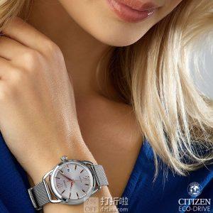金盒特价 CITIZEN 西铁城 FE6081-51A 光动能女式手表 3.7折$83.99史低 海淘关税补贴到手约¥722