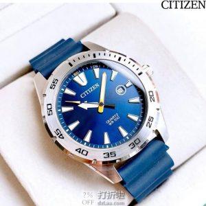 CITIZEN 西铁城 BI1041-22L 男式石英手表 4.5折$57.99史低 海淘转运关税补贴到手约¥531