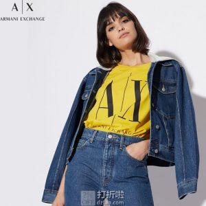 A|X Armani Exchange 阿玛尼 女式连帽牛仔夹克外套 3.8折$60 海淘转运到手约¥467
