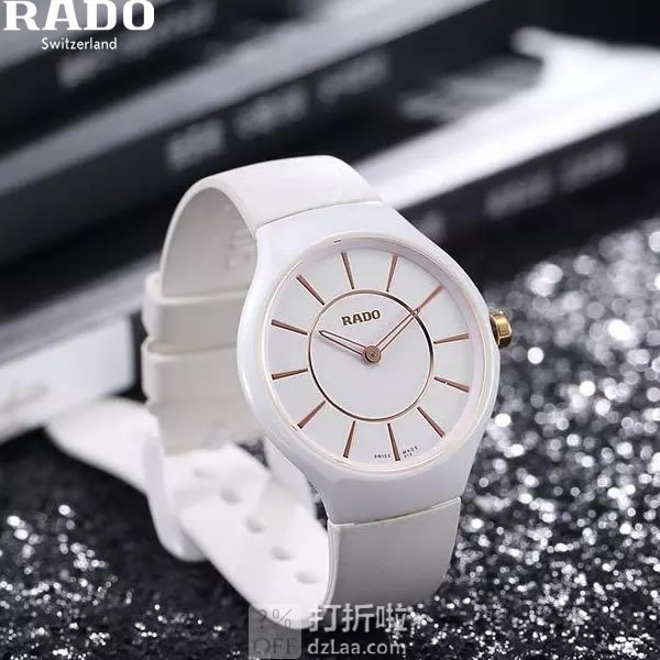 Rado 雷达表 True Thinline 真薄系列 超薄陶瓷 女式手表 R27958109 2.5折$399 海淘转运关税补贴到手约¥2956