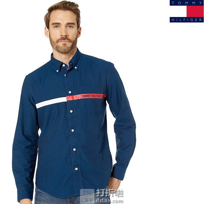 Tommy Hilfiger 汤美费格 磁扣 男式长袖衬衫 3.5折$27.99 海淘转运到手约¥212