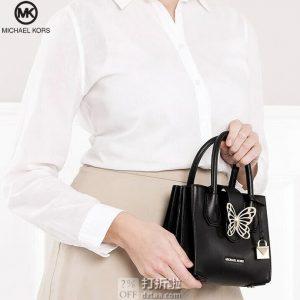 双12预告 MICHAEL KORS 迈克·科尔斯 MERCER系列 立体蝴蝶金属扣 女式手提包 多重优惠折后¥546.8包邮包税(限1小时2件7折)