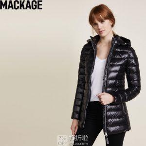 加拿大 Mackage Kimia 轻便时尚 90%鹅绒 女式连帽羽绒服 M码7.2折$278.81 海淘转运到手约¥1990