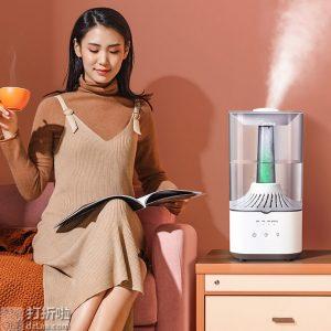 美的 SCK-3H40 抑菌净化 4.5L大容量加湿器 双重优惠折后¥129包邮 京东¥169