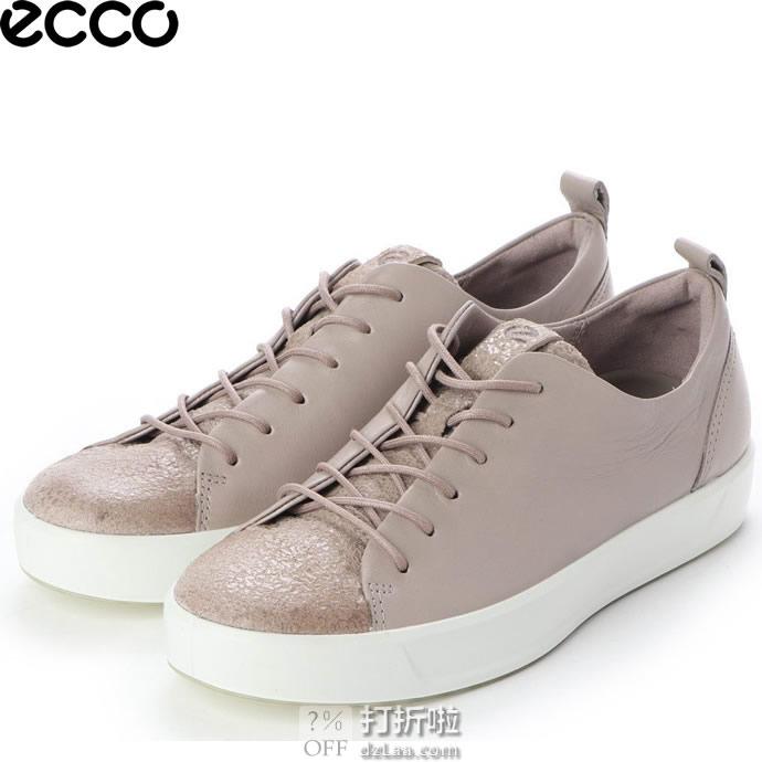 ECCO 爱步 Soft 8 柔酷8号 混合鞋面 女式运动休闲鞋 36码2.6折$46.71 海淘转运到手约¥412
