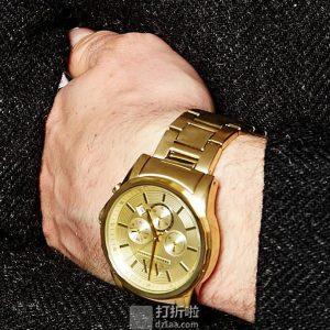 金盒特价 A/X Armani Exchange 阿玛尼 三眼计时 男式手表 AX2099 4.3折$89.53 海淘转运关税补贴到手约¥767