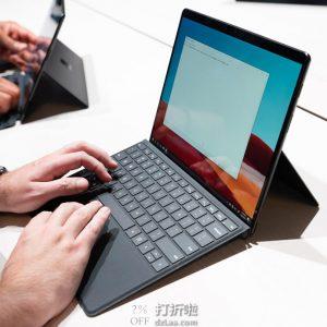 Microsoft 微软 Surface Pro X  二合一13″笔记本电脑(SQ1/8GB/128GB)7.5折$749.99 海淘转运到手约¥5492 国内¥8488