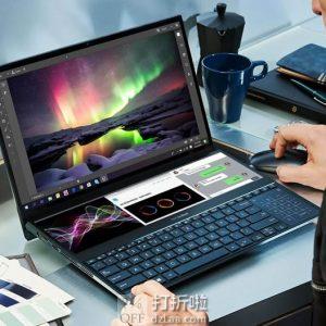 ASUS 华硕 ZenBook Pro Duo UX581GV 双屏幕 15.6英寸 4K OLED 笔记本电脑(i7-9750H/RTX 2060/16GB/1TB PCIe)9.2折$2299 海淘转运到手约¥16314 国内¥26189