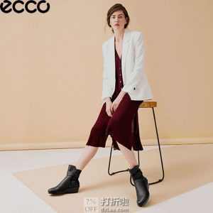 ECCO 爱步 Skyler 斯凯乐 防水女式坡跟短靴 36码3.5折$69.35海淘转运到手约¥573