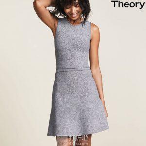 Theory 无袖针织连衣裙L码1.2折$48.45 海淘转运到手约¥366