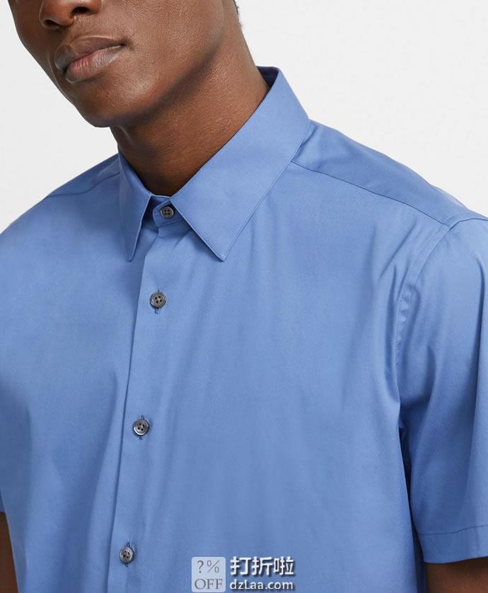 Theory 希尔瑞 Sylvain 修身款 男式短袖衬衫 M码2.9折.77 海淘转运到手约¥365