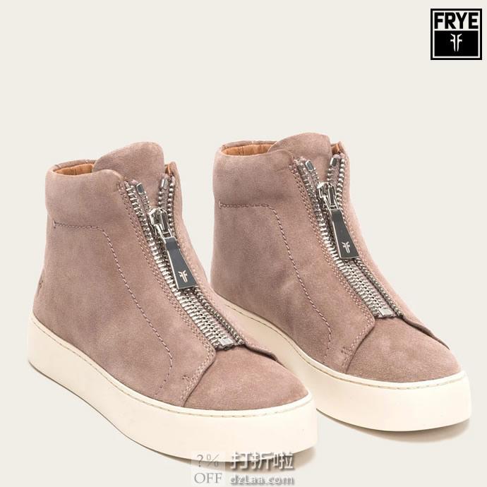 FRYE 弗莱 Lena Zip 女式高帮板鞋 休闲鞋 36码1.9折$48.95 海淘转运到手约¥457