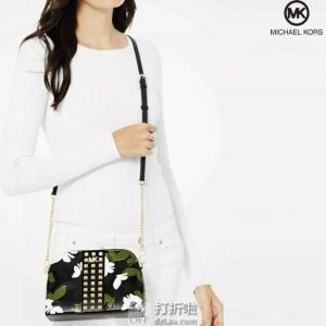 Michael Kors 迈克·科尔斯 Cindy系列 大号 铆钉装饰 女式贝壳包 5折$99.99海淘转运到手约¥722