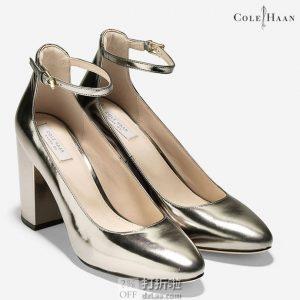 Cole Haan 可汗 Larue Grand 女式踝带粗高跟鞋 35.5码1.7折$41.86 海淘转运到手约¥377