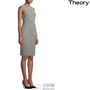 Theory Weekend Eano Benton 女式无袖粗花呢连衣裙 L码1.5折$57.81 海淘转运到手约¥426