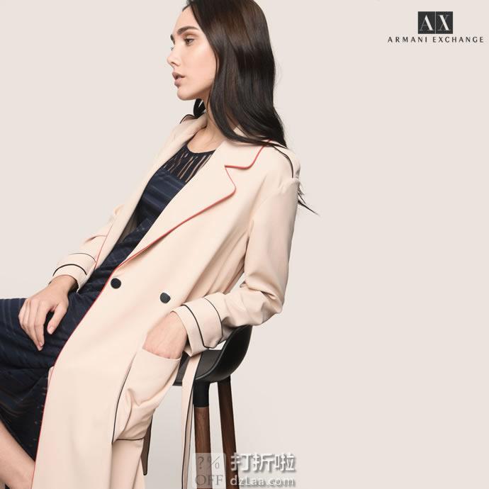 A|X Armani Exchange 阿玛尼 女式风衣外套 XL码1.4折$55.79 海淘转运到手约¥442
