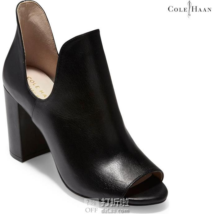 Cole Haan 可汗 Electa 女式高跟露趾踝靴 36码1.9折$31.52 海淘转运到手约¥306