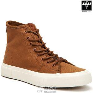 FRYE 弗莱 Ludlow High 男式高帮帆布板鞋 7.5码3折$37.85 海淘转运到手约¥349