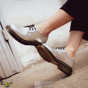 Dr. Martens 1461 Vegan 金属色 女式牛津鞋 6折$59.99 海淘转运到手约¥506