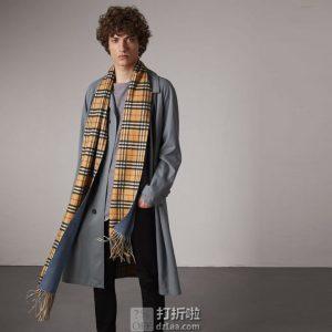 限PLUS会员 BURBERRY 博柏利 巴宝莉 40601131 双面羊绒围巾 双重优惠折后¥2691
